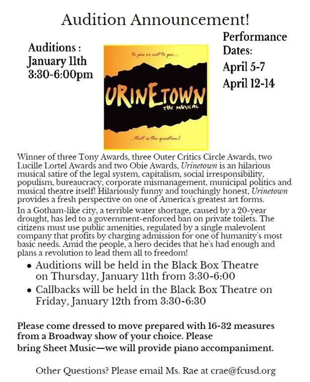 Auditions Urinetown